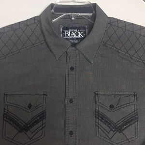 Buckle Black Athletic Fit Shirt